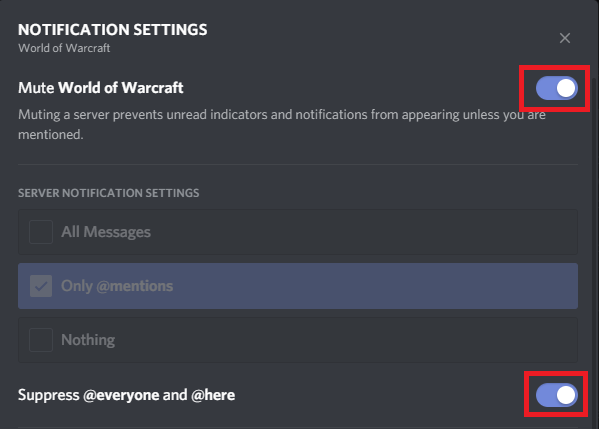 Discord Mute Server Screenshot